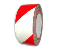 Лента сигнальная (500м) красно-белая