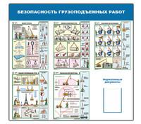 """Стенд """"Безопасность грузоподъемных работ (1400х1500) (1 карман)"""""""